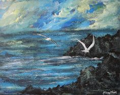 Art painting seascape wall art office art by ThisArtToBeYours, $150.00