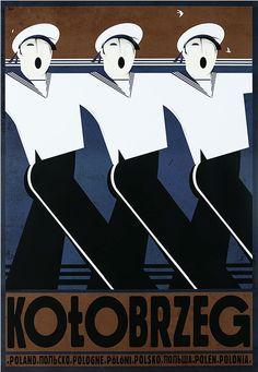 Polish Travel Poster by Ryszard Kaja (b. 1962), 2013, Kolobrzeg. (West Pomeranian Voivodeship in north-western Poland)