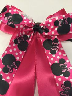 A personal favorite from my Etsy shop https://www.etsy.com/listing/223270088/pink-minnie-mouse-satin-hair-bow