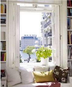 the white, the window seat, the view. i'll take it all.