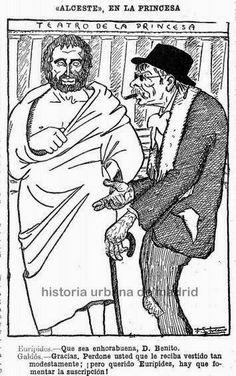 Madrid y Galdós. Estreno de Alceste en el teatro de la Princesa el 21 de abril de 1914.