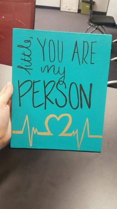 Big little you are my person Grey's Anatomy canvas U of SC Gamma Phi Beta