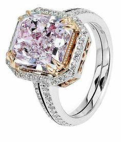 Pink saphire & diamond ring.