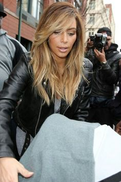 Doing this hair color my sister in law said (hair color) its about taking risks and I am a bit lighter then Kim Kardashian in this picture and I'm going for it !