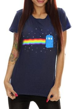 Doctor Who Rainbow Tardis Girls T-Shirt