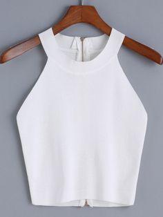 6f22cbf4e87fa7 Shop Halter Zipper Knit Cami Top online Australia