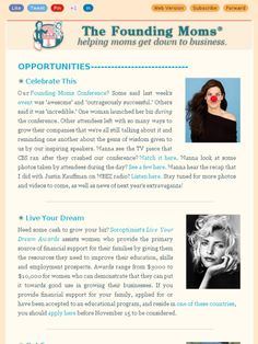 The newest www.FoundingMoms.com opportunites for entrepreneurs are out!