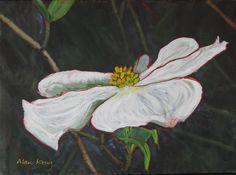 GEORGIA DOGWOOD Original Fine At Acrylic Painting by KrugsStudio, $199.99