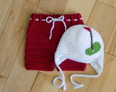 BABY GOLF CAP Hat & Diaper Cover Shorts Crocheted Girls or Boys Photo Prop in Soft White Yarn Size Preemie, Newborn, 0-3, 3 Months by Grandmabilt on Etsy