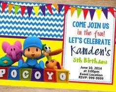 Invitación de cumpleaños de Pocoyo por EnchantedPartyCorner en Etsy