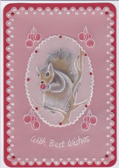 Squirrels Feast - Pattern by Judith Maslen.  Done at July workshop.