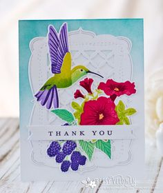 Thank You Card by Betsy Veldman for Papertrey Ink (June 2017)