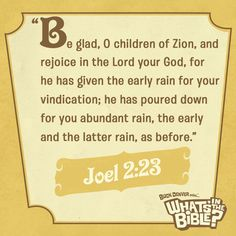 Joel 2:23 | Verse Of The Day from WhatsInTheBible.com
