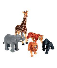 Jumbo Jungle Animal Figurine Set | something special every day