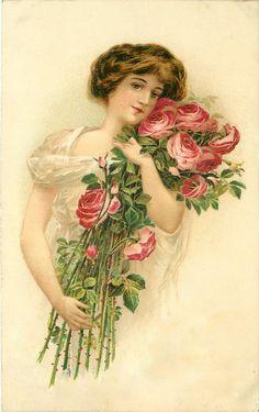 15 illustrations vintage femmes - Page 5 Valentine Images, My Funny Valentine, Vintage Valentine Cards, Vintage Greeting Cards, Vintage Ephemera, Vintage Paper, Vintage Postcards, Vintage Pictures, Vintage Images
