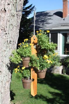 blumentopfhalter zum h ngen blumenampel balkon von schlueterkunstunddesign wohnzubeh r. Black Bedroom Furniture Sets. Home Design Ideas