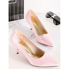 Graceful Candy Color Pointed Shallow High Heels Shoes LAVELIQ
