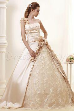 エレガントなワンショルダーの夜会服ロイヤルAngerlikaのウェディングドレス 9685525 - ウェディングドレス2014 - Dresswe.Com