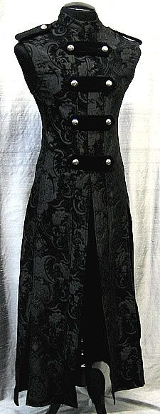 Hellraiser Cassock by Shrine Clothing Goth Mens Cassock Jackets