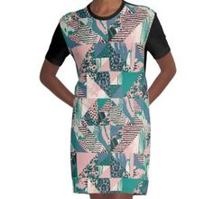 'abstract seamless pattern with animal print' Graphic T-Shirt Dress by Chris olivier Graphic Prints, Shirt Dress, T Shirt, Chiffon Tops, Print Design, Short Sleeve Dresses, Animal, Abstract, Floral