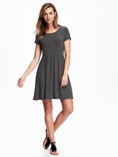 Fit & Flare Jersey Dress for Women Product Image
