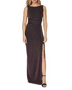 Laundry by Shelli Segal Striped Gown Women - Dresses - Evening & Formal Gowns - Bloomingdale's Formal Evening Dresses, Formal Gowns, Plus Size Shopping, Shopping Bag, Maxi Gowns, Plus Size Designers, Gowns Online, Laundry By Shelli Segal, Review Dresses