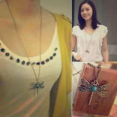 Brand Newvintage Dragonfly Necklace