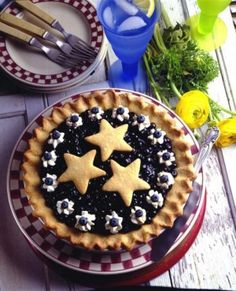 Double Blueberry Cookie Pie #littlechanges