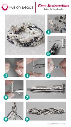 jewelry making This bracelet is definitely a favorite! It looks so chic and elegant, and the best part is that beginning beaders can use the simple stringing technique to make this fun design in just a few easy step (Jewelry Diy Ideas) - DIY Bijoux – pi Diy Schmuck, Schmuck Design, Jewelry Making Tutorials, Beading Tutorials, Jewellery Making, Jewellery Box, Jewellery Earrings, Jewellery Shops, Diamond Jewellery