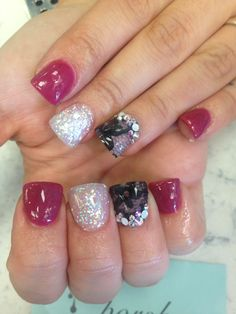 Acrylic nails flared nails nail