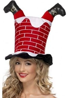 Picture of Santa Stuck In Chimney Hat