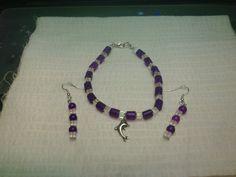 Handmade Ankle Bracelet & Earrings