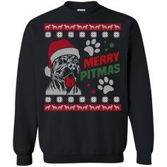 Merry Pitmas Ugly Christmas Sweater Shirt