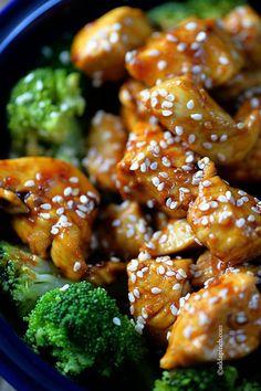 Skinny Orange Chicken Recipe ~ is Paleo-friendly, gluten-free, and grain-free, but definitely NOT free of flavor! //addapinch.com