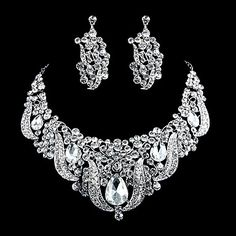 Alloy With Rhinestone Wedding/Special Occaision Jewelry Set(Including Necklace And Earrings) – USD $ 59.99