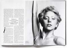 Lady Gaga in Vogue -- like the two columns with the quote.