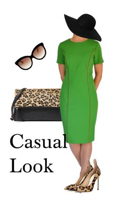 Green Casual by tubino-skirts-dresses on Polyvore featuring mode, Francesco Russo, Italia Independent and Monki