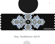 peyote ring pattern,PDF-Download, #051R, beading pattern, beading tutorials, ring pattern