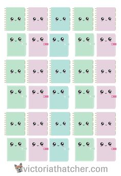Free Printable Kawaii Planner Stickers from Victoria Thatcher To Do Planner, Free Planner, Planner Ideas, Happy Planner, 2016 Planner, Free Printable Planner Stickers, Free Stickers, Google Drive, Kawaii Planner