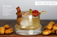 The Liquid Diet Cocktail Comes Packed with Garnishes and a Bacon Straw #cocktails #summer trendhunter.com