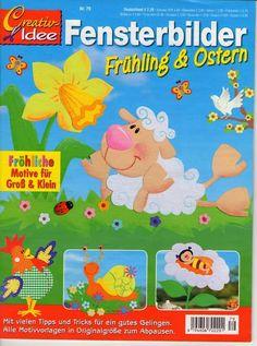 Creativ idee Nr.79-Fensterbilder-Frühling & Ostern
