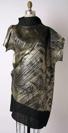 Dress Designer: Issey Miyake (Japanese, born 1938) Design House: Miyake Design Studio (Japanese) Date: fall/winter 1994–95 Culture: Japanese Medium: polyester