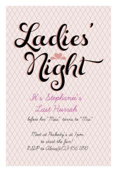 Free printable ladies night invitation m delsabend for Zeitung gartenidee