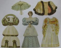 VICTORIAN MCLAUGHLIN COFFEE DIE CUT/PAPER DOLL SET-LADY W/EXTRA OUTFITS-#3 (05/13/2013)
