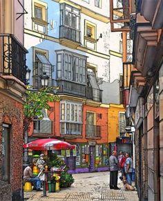 """Cartel de la exposición """"Calles y barrios de Cádiz"""" / Ayuntamiento de #Cádiz"""