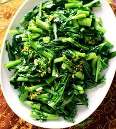 Stir-Fried Greens with Oyster Sauce... Oyster sauce basically makes every green vegetable taste 100x more amazing in a stir fry.