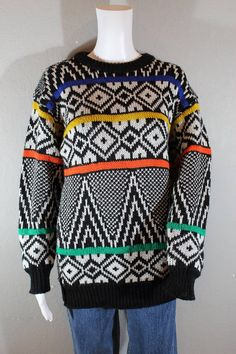 Vintage Sweater hipster sweater geometric Hipster Sweater 5abc0cb3c