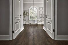 Waterproof Laminate Flooring, Wood Laminate, Natural Wood Flooring, Hardwood Floors, Wide Plank, Furniture Styles, Kitchen Flooring, Mudroom, Smoke