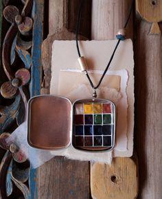 Watercolor Travel Locket