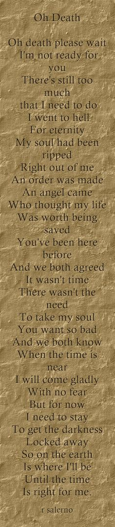 Supernatural poem by r salerno